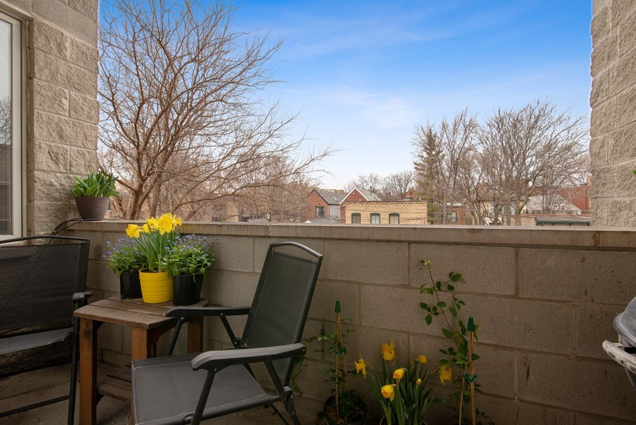 Real Estate Photography - 2136 W. Evergreen Ave., Unit 2B, Chicago, IL, 60622 - Balcony