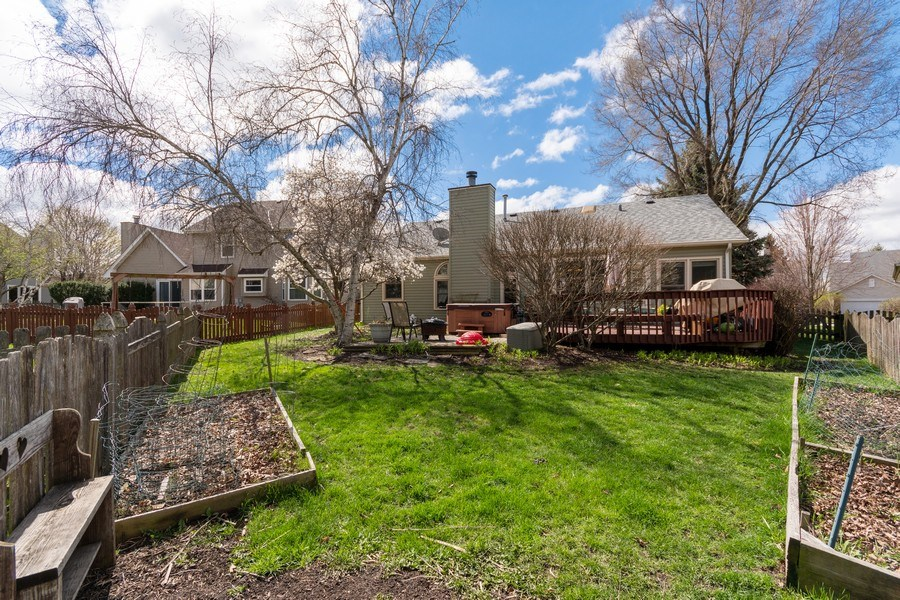 Real Estate Photography - 338 Meadowview Lane, Aurora, IL, 60502 - Back Yard