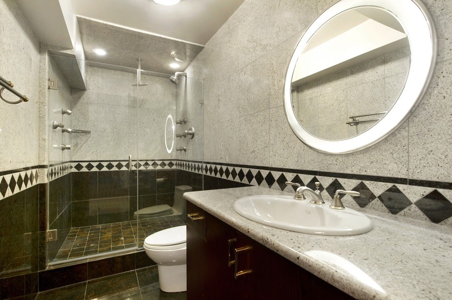 Real Estate Photography - 175 E. Delaware, #8606/8607, Chicago, IL, 60611 - Third Bathroom