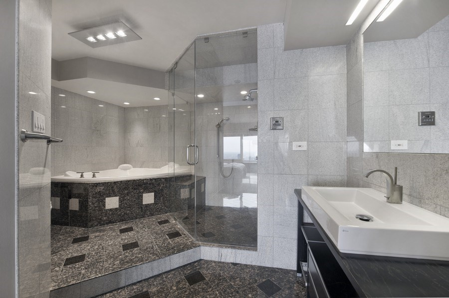 Real Estate Photography - 175 E. Delaware, #8606/8607, Chicago, IL, 60611 - Master Bathroom