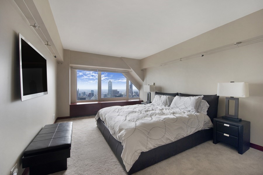 Real Estate Photography - 175 E. Delaware, #8606/8607, Chicago, IL, 60611 - Master Bedroom