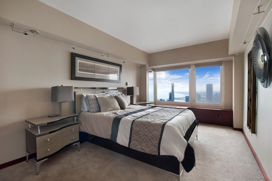 Real Estate Photography - 175 E. Delaware, #8606/8607, Chicago, IL, 60611 - Second Bedroom