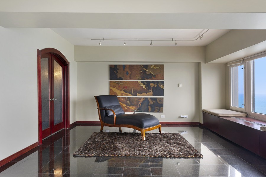 Real Estate Photography - 175 E. Delaware, #8606/8607, Chicago, IL, 60611 - Family Room