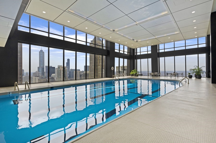 Real Estate Photography - 175 E. Delaware, #8606/8607, Chicago, IL, 60611 - Pool