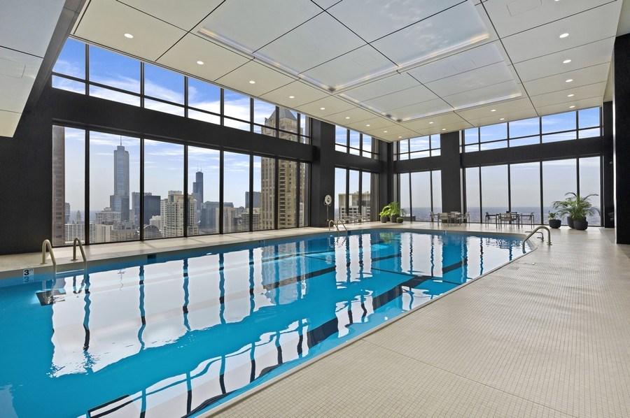 Real Estate Photography - 175 E. Delaware, #8606/8607, Chicago, IL, 60611 - Pool