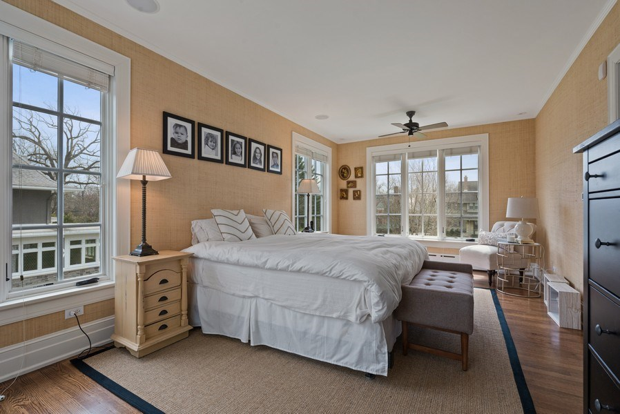 Real Estate Photography - 523 Essex, Kenilworth, IL, 60043 - Master Bedroom