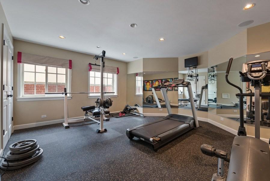 Real Estate Photography - 523 Essex, Kenilworth, IL, 60043 - Gym