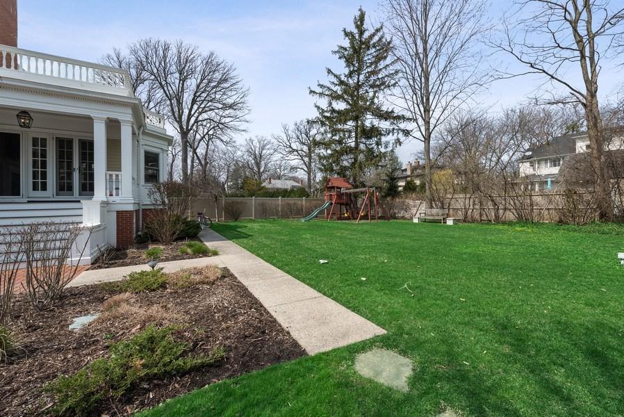 Real Estate Photography - 523 Essex, Kenilworth, IL, 60043 - Back Yard