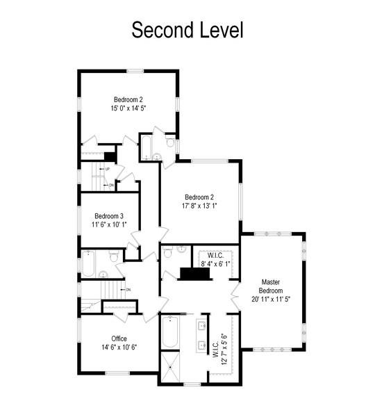 Real Estate Photography - 523 Essex, Kenilworth, IL, 60043 - Floor Plan