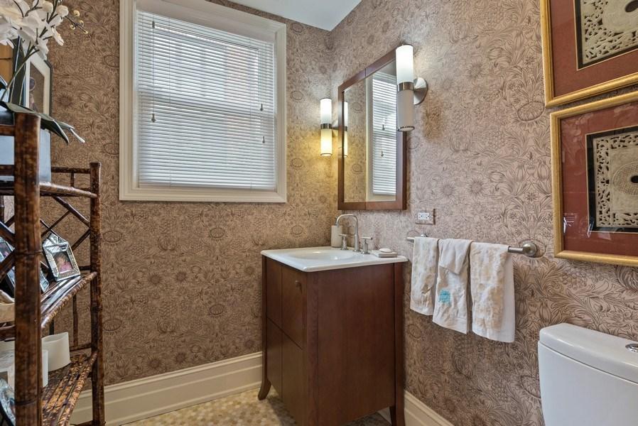 Real Estate Photography - 523 Essex, Kenilworth, IL, 60043 - Half Bath