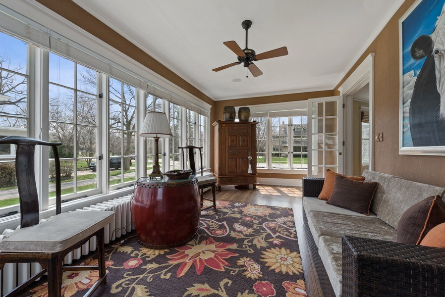Real Estate Photography - 523 Essex, Kenilworth, IL, 60043 - Sun Room