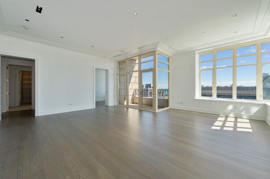Real Estate Photography - 118 East Erie, 36F, Chicago, IL, 60611 - Living Room