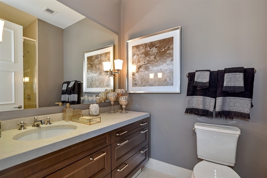 Real Estate Photography - 118 East Erie, 36F, Chicago, IL, 60611 - Second bathroom