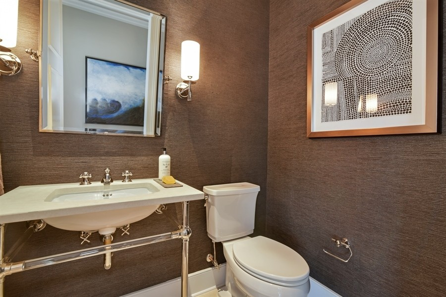 Real Estate Photography - 118 East Erie, 36F, Chicago, IL, 60611 - Hall Bathroom