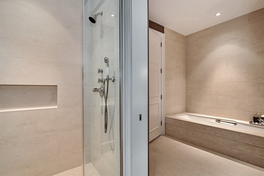 Real Estate Photography - 118 East Erie, 36F, Chicago, IL, 60611 - Master bathroom