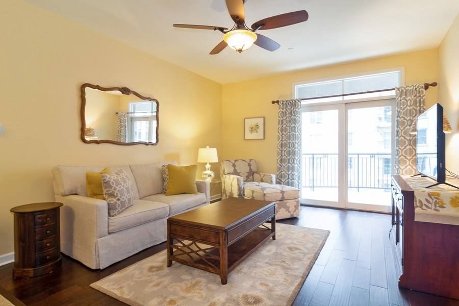 Real Estate Photography - 151 Wing St #309, Arlington Heights, IL, 60005 - Living Room
