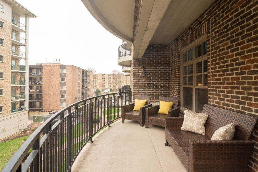 Real Estate Photography - 151 Wing St #309, Arlington Heights, IL, 60005 - Balcony