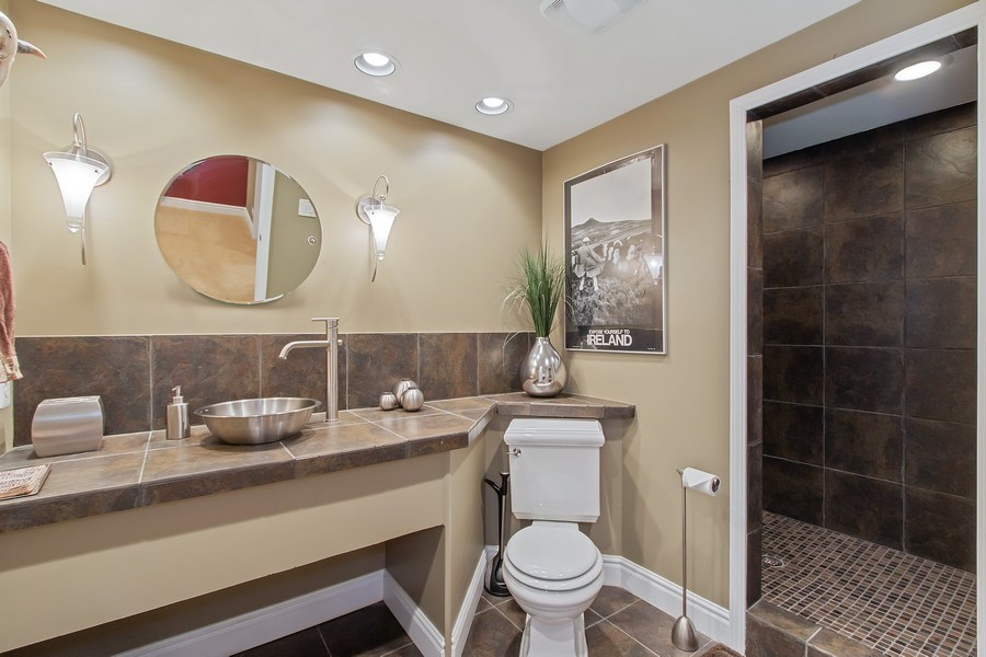 Real Estate Photography - 930 Lakewood Drive, Barrington, IL, 60010 - Basement Bathroom