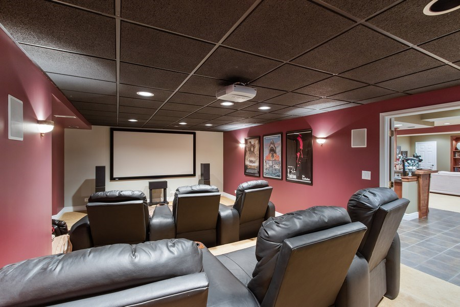 Real Estate Photography - 930 Lakewood Drive, Barrington, IL, 60010 - Media Room