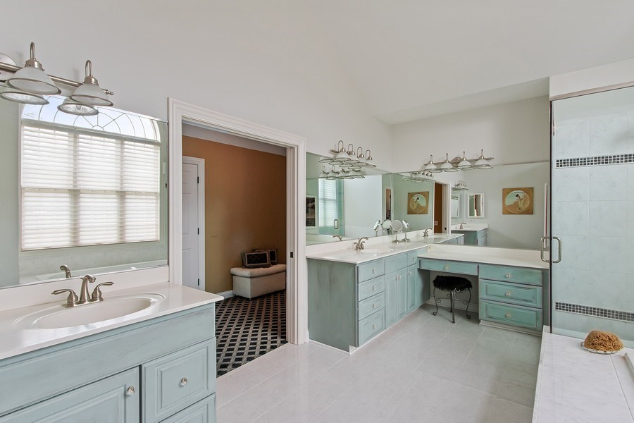 Real Estate Photography - 930 Lakewood Drive, Barrington, IL, 60010 - Master Bathroom