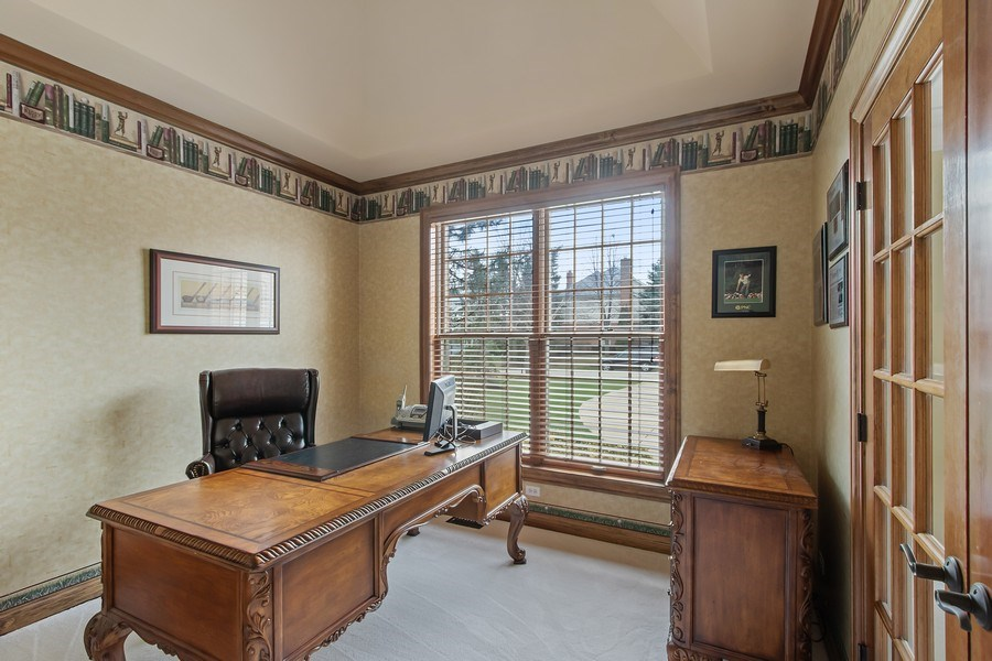 Real Estate Photography - 930 Lakewood Drive, Barrington, IL, 60010 - First Floor Study