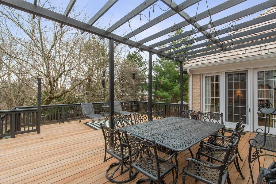 Real Estate Photography - 930 Lakewood Drive, Barrington, IL, 60010 - Immense Party Deck w/Pergola