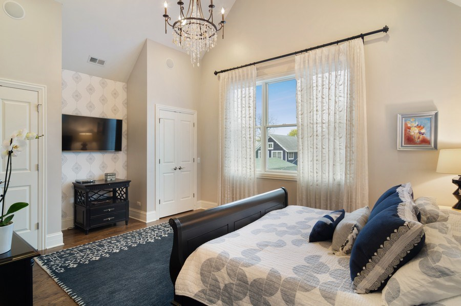 Real Estate Photography - 3036 N Hoyne Ave, Chicago, IL, 60618 - Master Bedroom