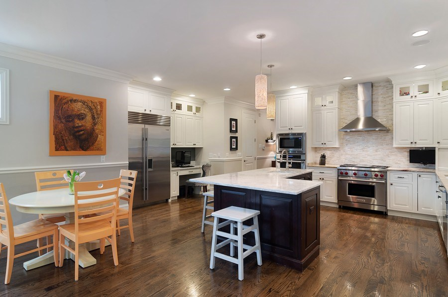 Real Estate Photography - 3036 N Hoyne Ave, Chicago, IL, 60618 - Kitchen / Breakfast Room