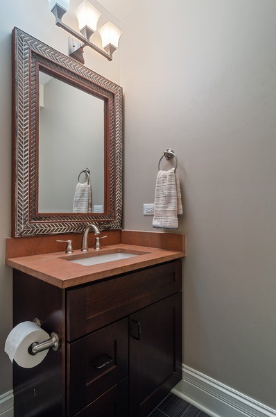 Real Estate Photography - 3036 N Hoyne Ave, Chicago, IL, 60618 - Lower Level Half Bathroom
