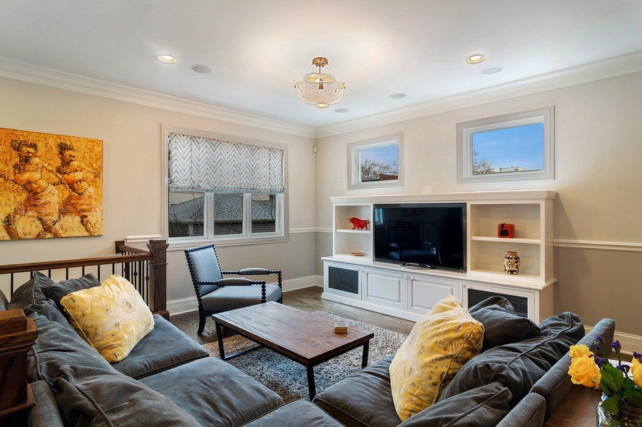Real Estate Photography - 3036 N Hoyne Ave, Chicago, IL, 60618 - Family Room