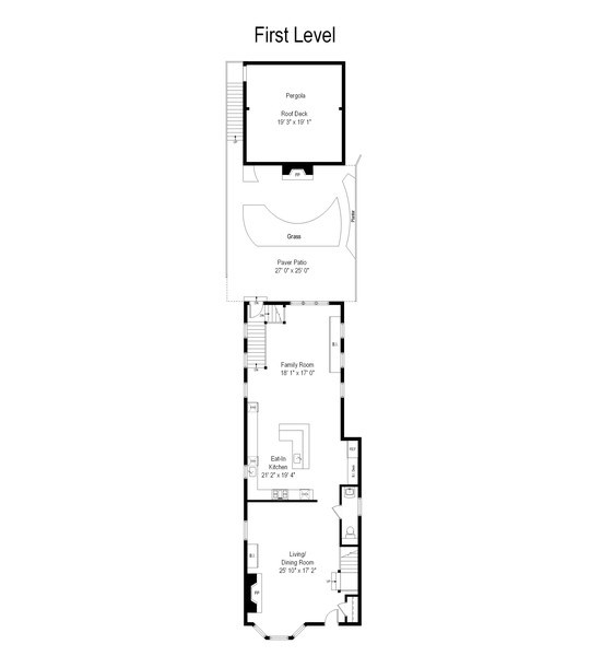 Real Estate Photography - 3036 N Hoyne Ave, Chicago, IL, 60618 - Floor Plan