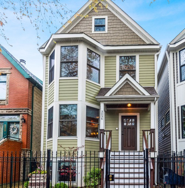 Real Estate Photography - 3036 N Hoyne Ave, Chicago, IL, 60618 - Front View