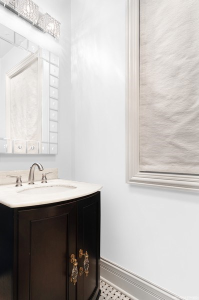 Real Estate Photography - 3036 N Hoyne Ave, Chicago, IL, 60618 - Powder Room