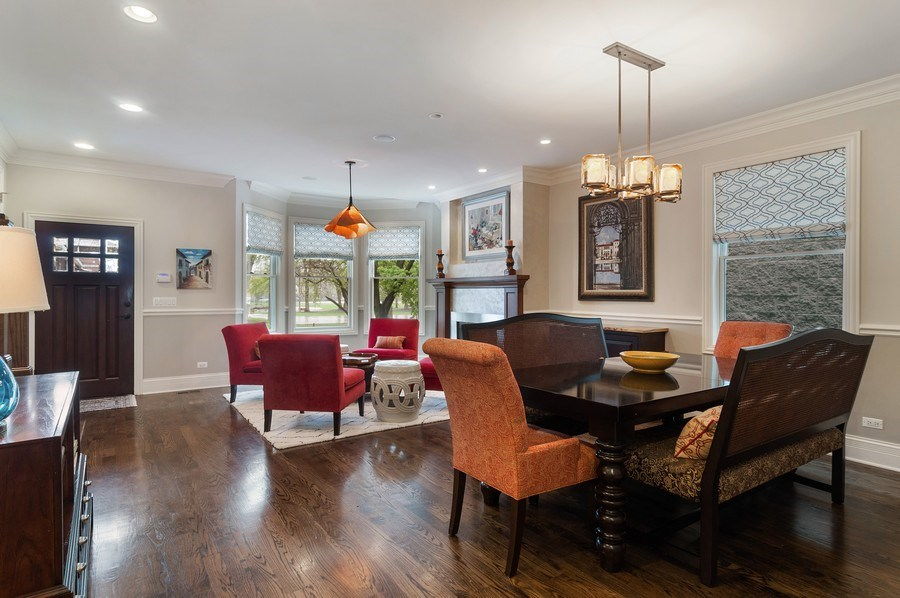Real Estate Photography - 3036 N Hoyne Ave, Chicago, IL, 60618 - Living Room / Dining Room