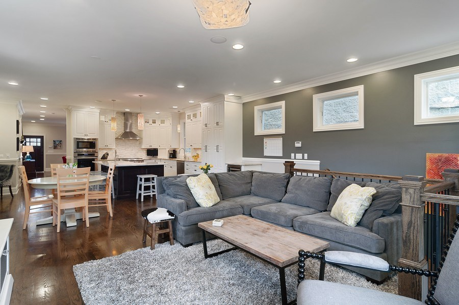 Real Estate Photography - 3036 N Hoyne Ave, Chicago, IL, 60618 - Family Room / Kitchen