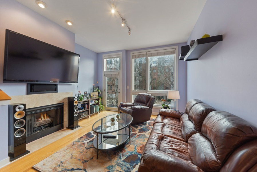 Real Estate Photography - 2338 W Wolfram, Chicago, IL, 60618 - Living Room