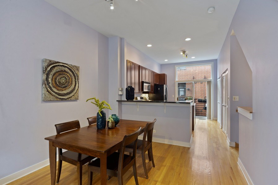 Real Estate Photography - 2338 W Wolfram, Chicago, IL, 60618 - Dining Room