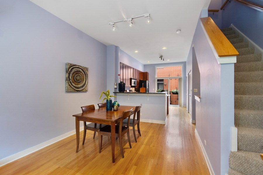 Real Estate Photography - 2338 W Wolfram, Chicago, IL, 60618 - Kitchen / Dining Room