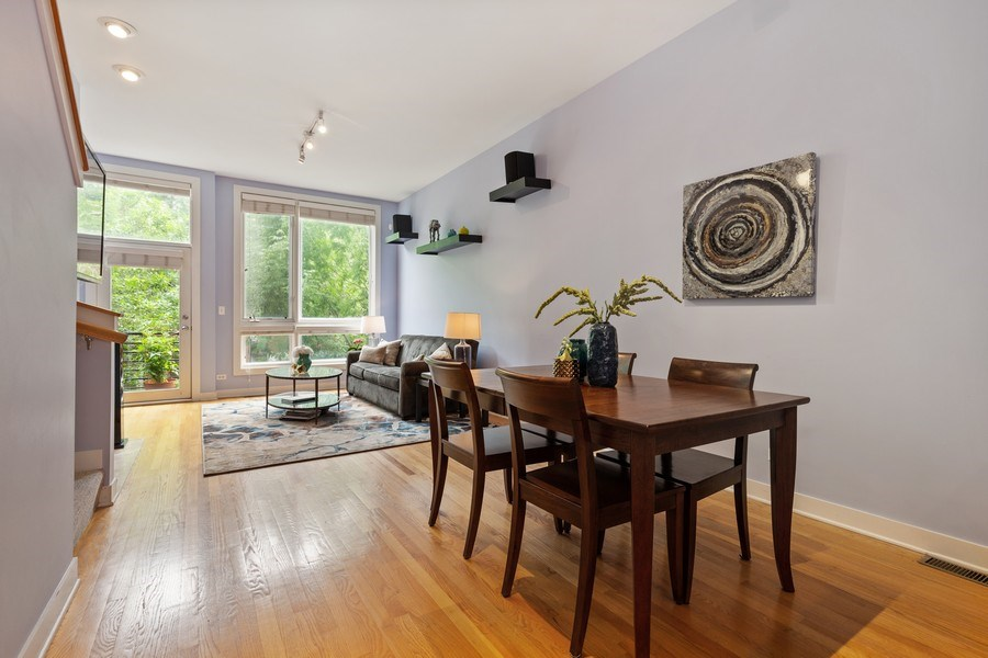 Real Estate Photography - 2338 W Wolfram, Chicago, IL, 60618 - Living Room / Dining Room