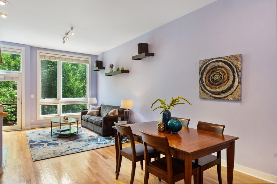 Real Estate Photography - 2338 W Wolfram, Chicago, IL, 60618 - Living Room/Dining Room