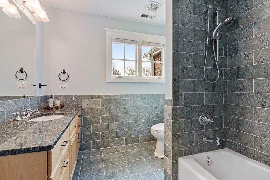 Real Estate Photography - 1415 Lincoln Ave, Evanston, IL, 60201 - 3rd Bathroom