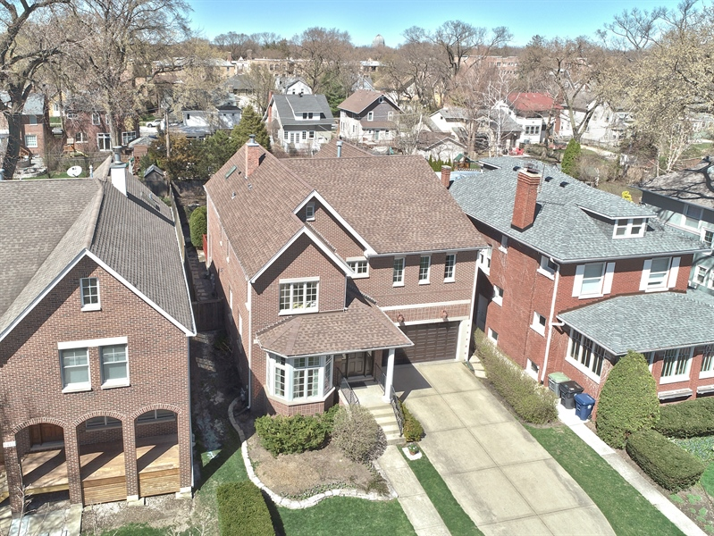 Real Estate Photography - 1415 Lincoln Ave, Evanston, IL, 60201 - Aerial View