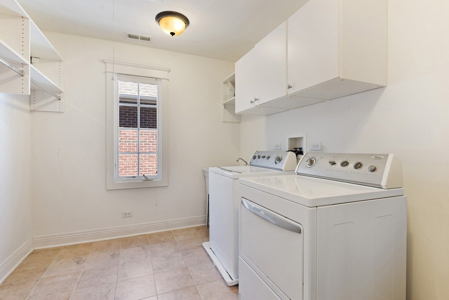 Real Estate Photography - 1415 Lincoln Ave, Evanston, IL, 60201 - Laundry Room