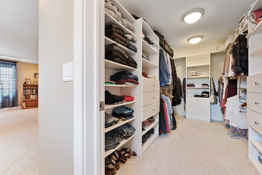 Real Estate Photography - 1415 Lincoln Ave, Evanston, IL, 60201 - Master Bedroom Closet