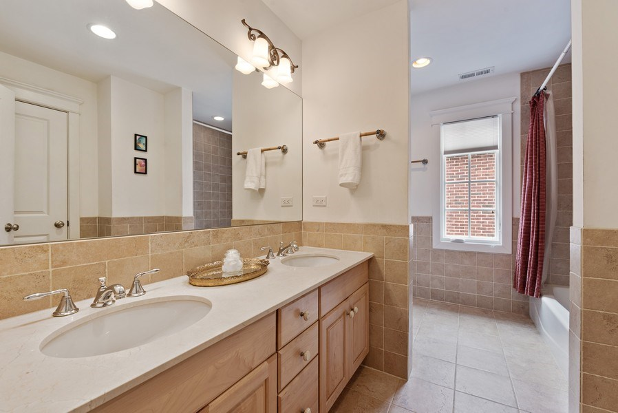 Real Estate Photography - 1415 Lincoln Ave, Evanston, IL, 60201 - 2nd Bathroom