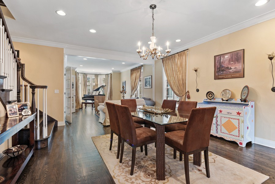 Real Estate Photography - 1415 Lincoln Ave, Evanston, IL, 60201 - Living Room / Dining Room