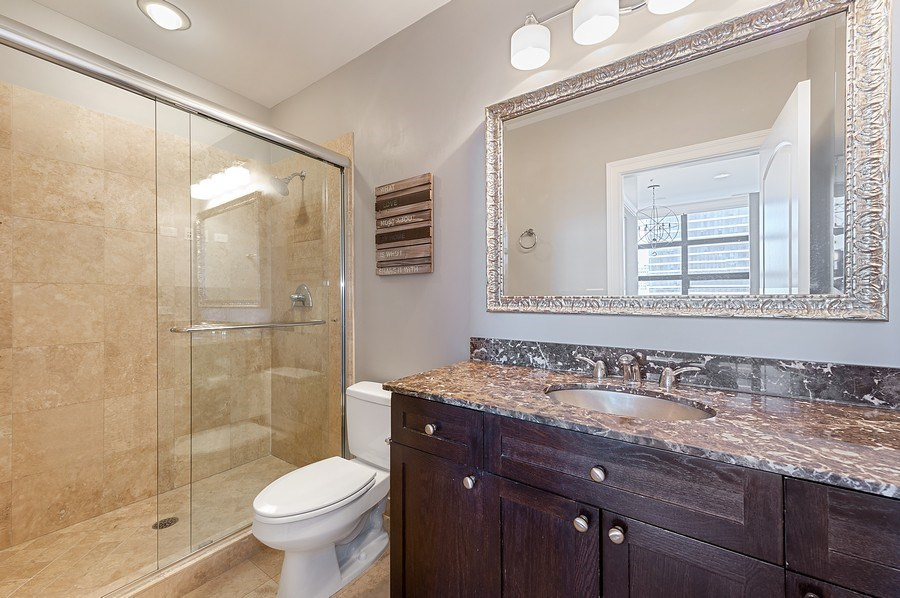 Real Estate Photography - 101 W Superior, Unit 906, Chicago, IL, 60654 - Master Bathroom