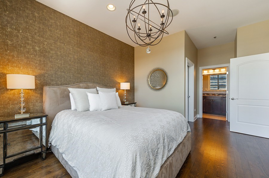 Real Estate Photography - 101 W Superior, Unit 906, Chicago, IL, 60654 - Master Bedroom
