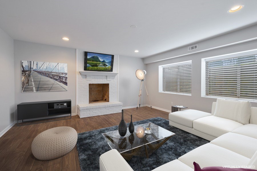 Real Estate Photography - 201 W Russell St, Barrington, IL, 60010 - Media Room