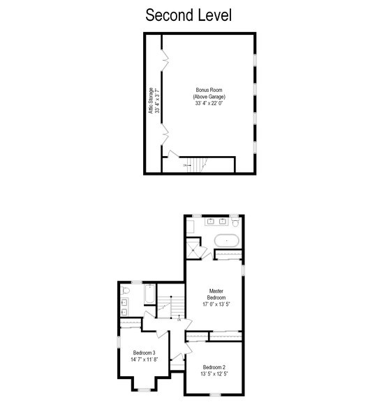 Real Estate Photography - 201 W Russell St, Barrington, IL, 60010 - Floor Plan